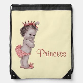 La bolsa de pañales de princesa Baby del vintage Mochila