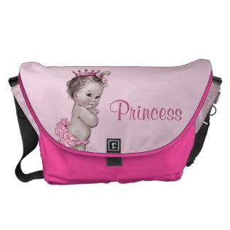 La bolsa de pañales de princesa Pink Baby del vint Bolsa Messenger