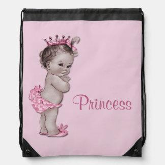 La bolsa de pañales de princesa Pink Baby del vint Mochilas