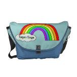 La bolsa de pañales del bebé del arco iris bolsas de mensajería