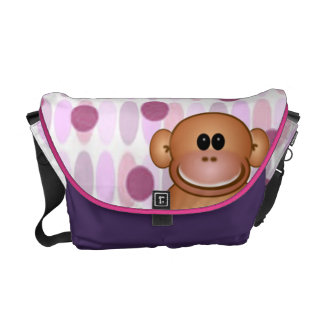 La bolsa de pañales del mono bolsas de mensajería