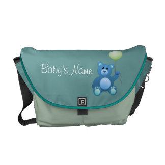 La bolsa de pañales del oso de peluche bolsa de mensajeria