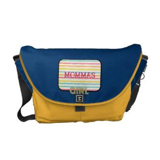 La bolsa de pañales retra del chica de Mommas Bolsa Messenger