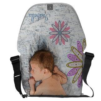 La bolsa de pañales retra del personalizado del bolsa de mensajeria