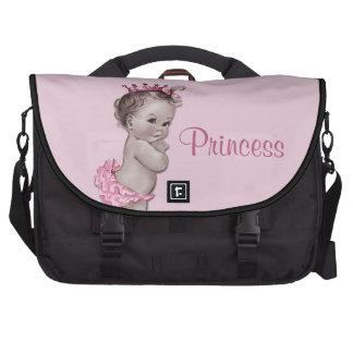 La bolsa de pañales rosada de princesa Baby del vi Bolsa Para Ordenador