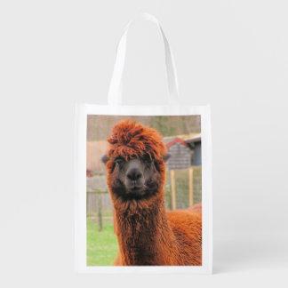 La bolsa de poliéster curiosa del ~ de la alpaca bolsa para la compra