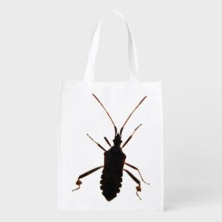 La bolsa de poliéster del ~ de la silueta del inse bolsas para la compra