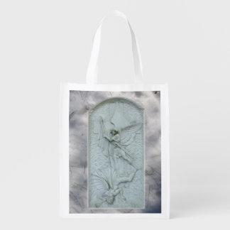 La bolsa de poliéster del ~ de Michael y de Lucife Bolsa Para La Compra