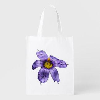 La bolsa de poliéster observada azul del ~ de la bolsas de la compra