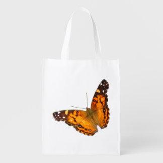 La bolsa de poliéster pintada del ~ de la mariposa bolsa para la compra