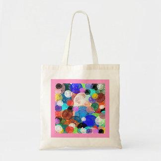 la bolsa multicolor de forma de círculo