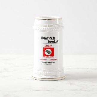 """La """"bomba atómica trabaja """" tazas de café"""