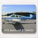 La BONANZA 1973 de Beechcraft Tapete De Ratones