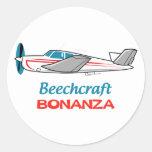 La bonanza de Beechcraft Pegatina Redonda
