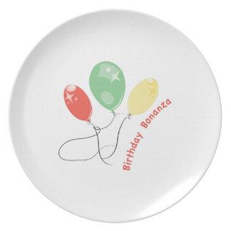 La bonanza del cumpleaños plato de cena