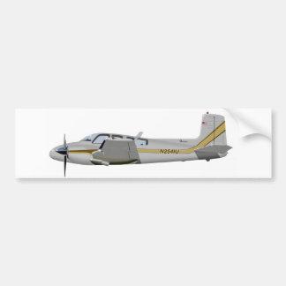 La bonanza gemela 452452 de Beechcraft J50 Etiqueta De Parachoque