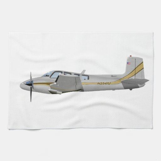 La bonanza gemela 452452 de Beechcraft J50 Toallas De Mano