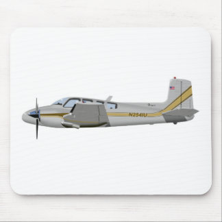 La bonanza gemela 452452 de Beechcraft J50 Tapete De Raton