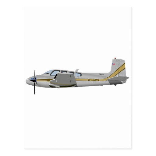 La bonanza gemela 452452 de Beechcraft J50 Tarjetas Postales