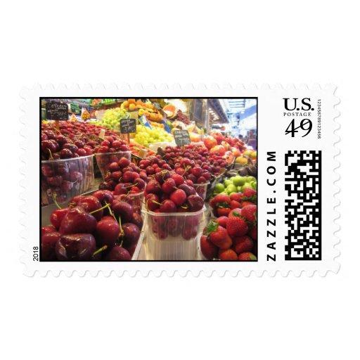 La Boqueria Market, Barcelona, Spain Stamps