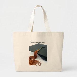 La borla digno de la graduación del molestia bolsa de mano