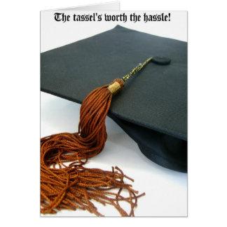 La borla digno de la graduación del molestia tarjeta de felicitación