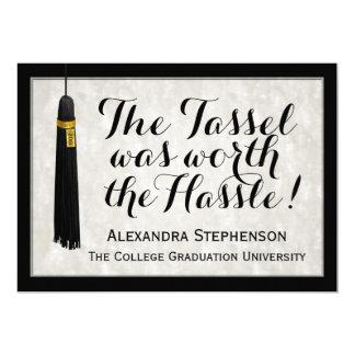 """La borla valió la graduación de la universidad del invitación 5"""" x 7"""""""