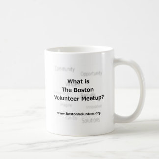 La Boston Meetup voluntario Taza Básica Blanca