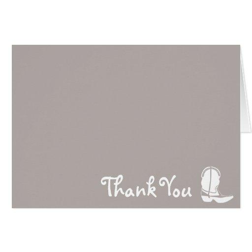 La bota de vaquero le agradece las tarjetas de not