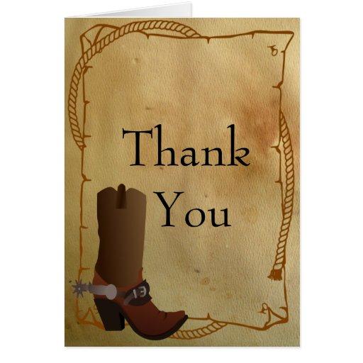 La bota de vaquero occidental le agradece felicitación
