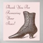 La bota del Victorian quita por favor su muestra d Poster