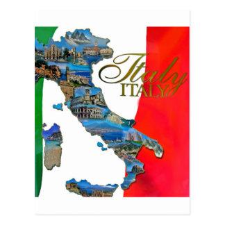 """La """"bota italiana """" tarjetas postales"""