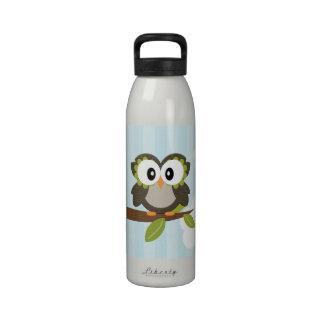 La botella de agua azul BPA del búho libera