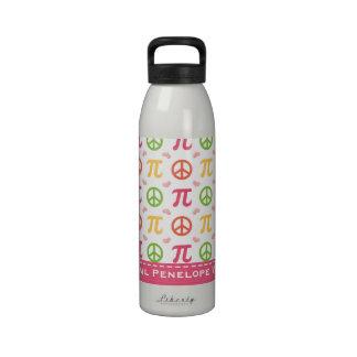 La botella de agua BPA de la matemáticas del amor