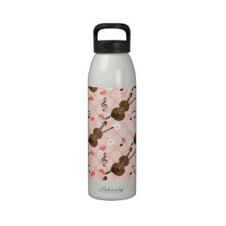 La botella de agua BPA del violín del amor de la p