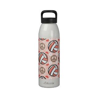 La botella de agua BPA del voleibol del amor de la