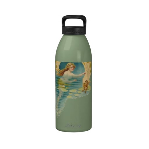 La botella de agua de la libertad de la sirena del