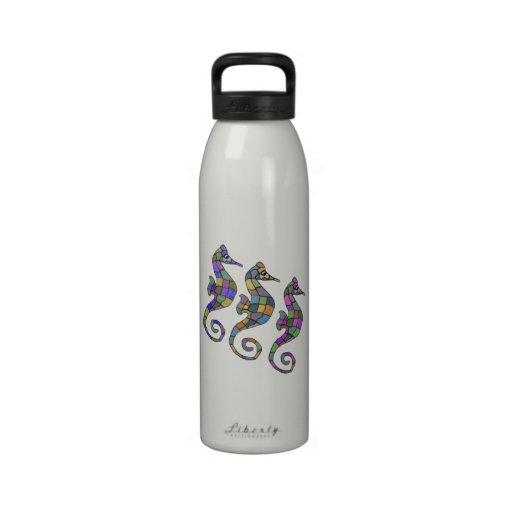 La botella de agua del arco iris del Seahorse