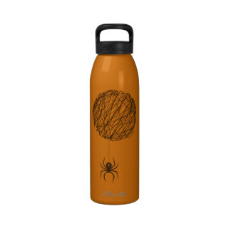 La botella de agua del Web de araña