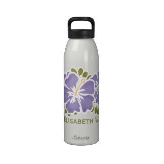 La botella de agua púrpura BPA del hibisco libera