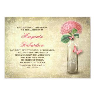 La botella de vino y la ducha nupcial de las invitación 12,7 x 17,8 cm