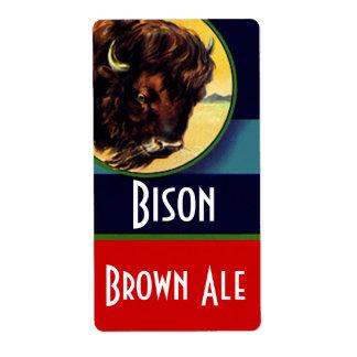La botella del brew casero de la cerveza de etiqueta de envío