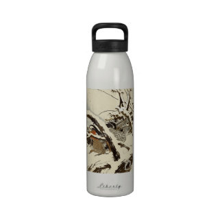 La botella impresión del japonés 1 arte aguant botella de agua reutilizable