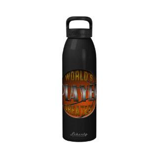 La botella más grande de la libertad del jugador d botallas de agua
