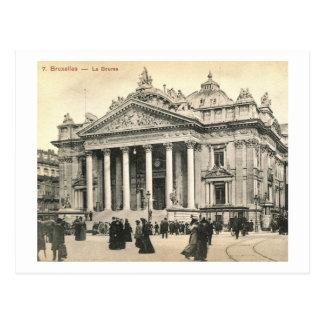 La Bourse, Brussels, Belgium Vintage Postcards