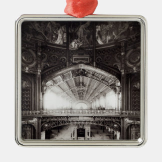 La bóveda central adorno navideño cuadrado de metal