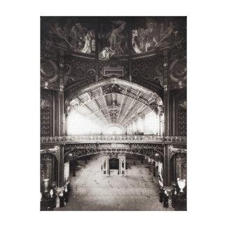 La bóveda central lona estirada galerías