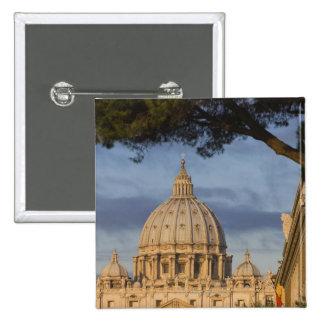 la bóveda de la basílica de San Pedro, Vatican, Pin Cuadrada 5 Cm