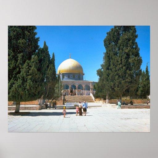La bóveda de la roca, Jerusalén 1 Poster