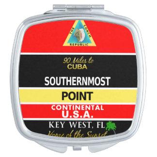 La boya más situada más al sur Key West del punto Espejos Maquillaje